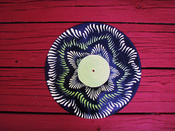 Retro Recycled Vinyl Record Wall Art