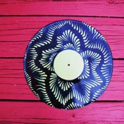 Retro Recycled Vinyl Record Wall Hang