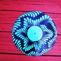 Blue Original Recycled Vinyl Record Wall Hang
